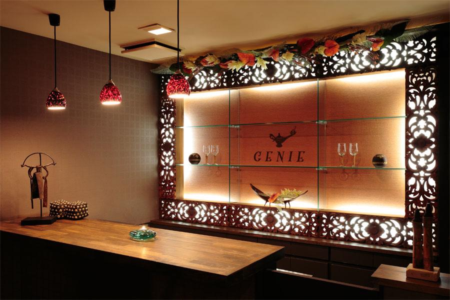 アジアンスタイル実例 都会のダーツバー「GENIE」