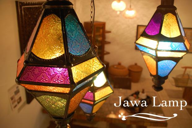 アジアン家具KAJAのジャワガラスのランプ