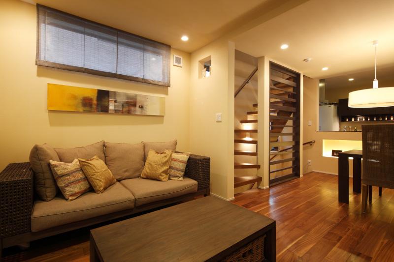 アジアンコーディネート事例 家具をメインにしたモダンシンプルコーディネート