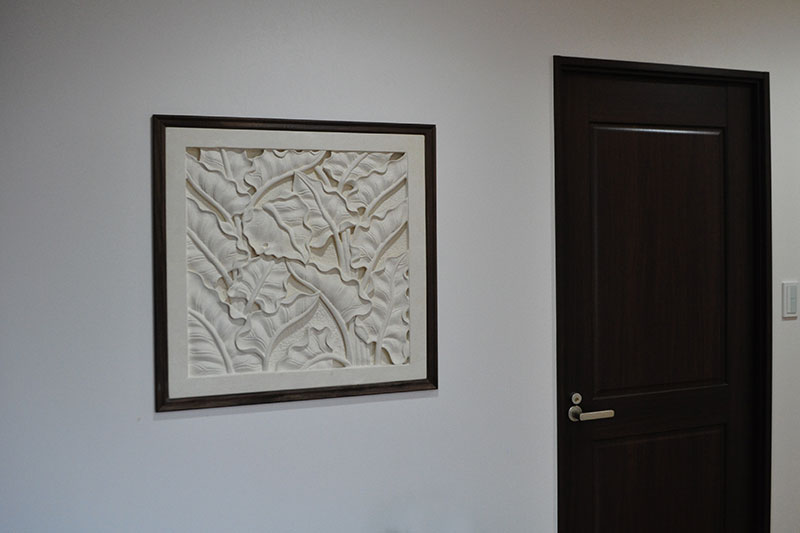 アジアンオーダー家具事例 オーダーレリーフで作るオリジナルの空間作り