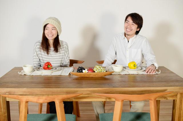 アジアン家具KAJAダイニングシーン