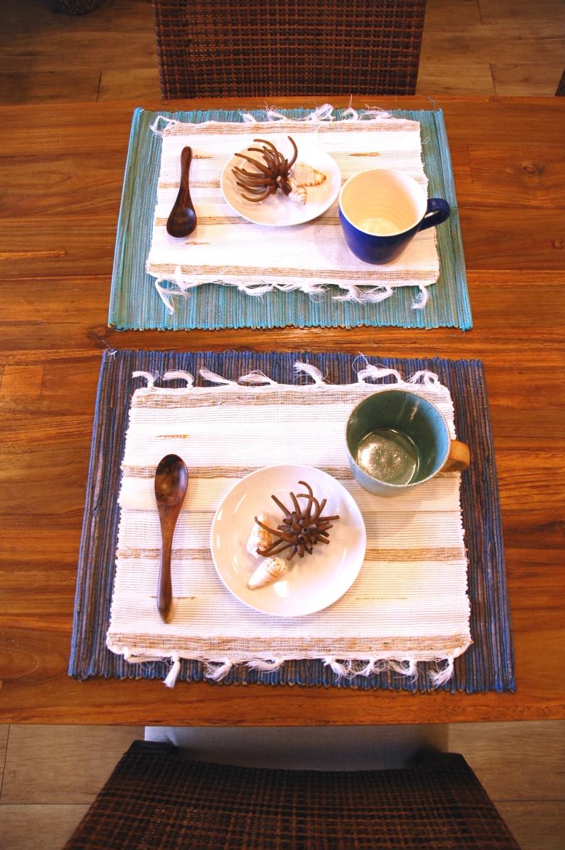 夏のテーブルコーディネート