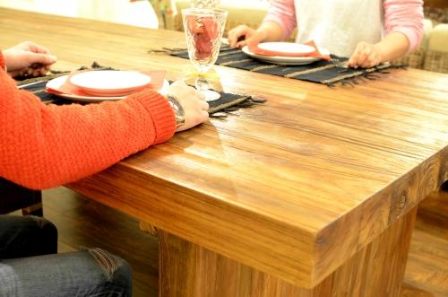 チークダイニングテーブル