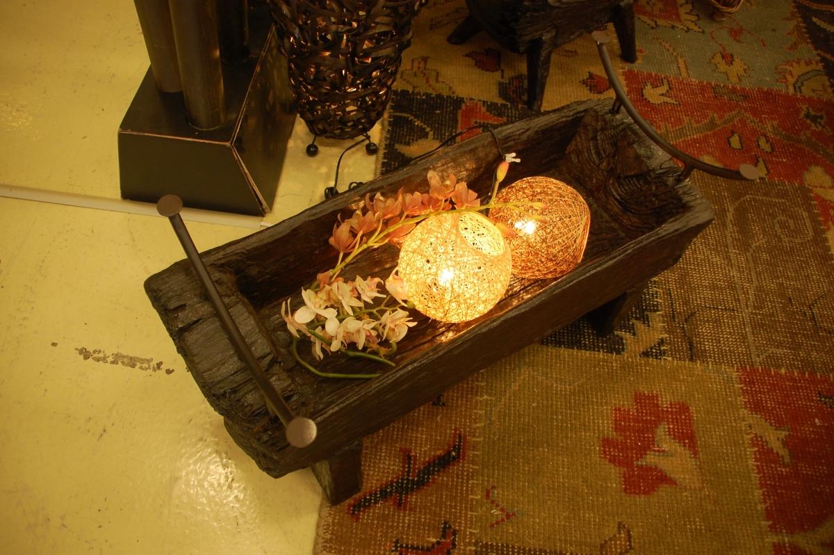 古木チークのローテーブル