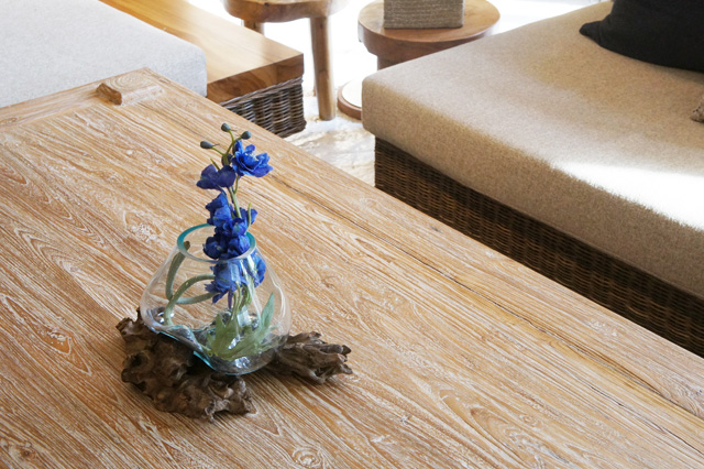 アジアン家具KAJA流木ガラスベース