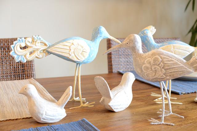 アジアン家具KAJA鳥のオブジェ