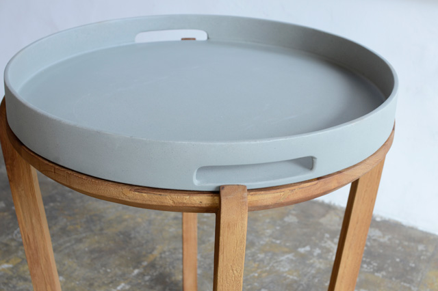 アジアン家具KAJAサイドテーブル(トレイ付き)
