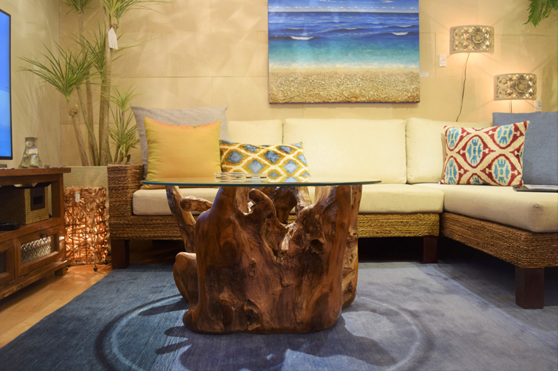 アジアンリゾート家具KAJAローテーブル