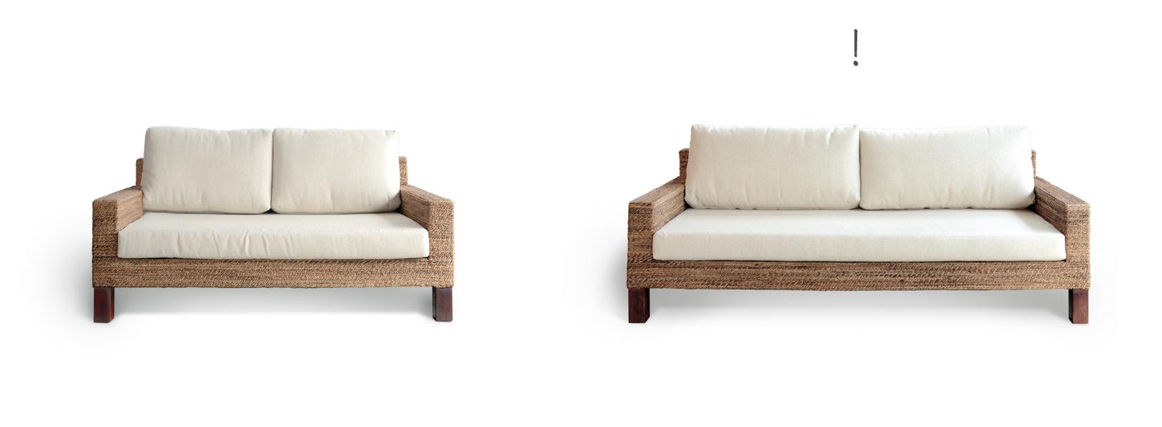 アジアン家具KAJAソファのサイズ