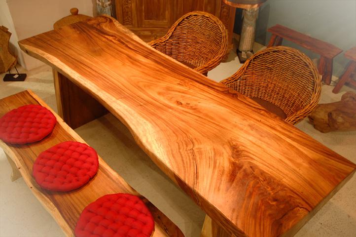 アジアン家具KAJA調布店スワールウッドダイニングテーブル