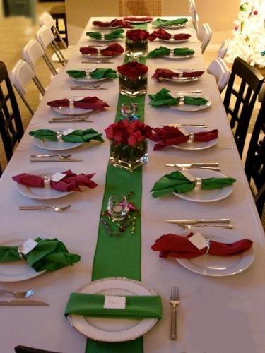 クリスマス カラー テーブル