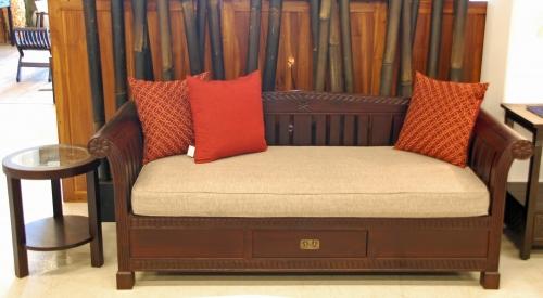 kaja sofa wood