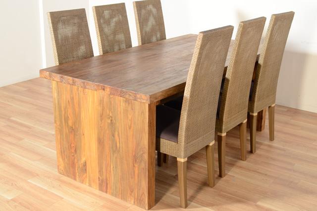 アジアン家具KAJAチーク古材ダイニングテーブル