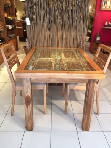 アジアのアンティークドアダイニングテーブル