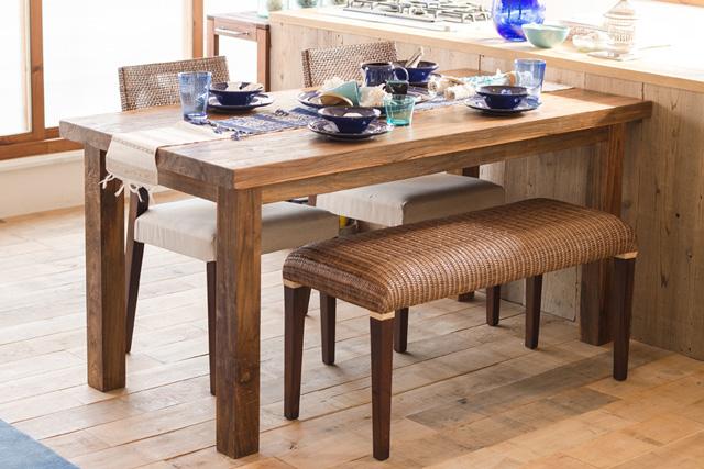 アジアン家具KAJA古材のダイニングテーブル