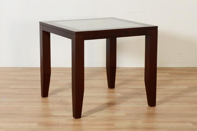 アジアン家具KAJAスモークガラスダイニングテーブル