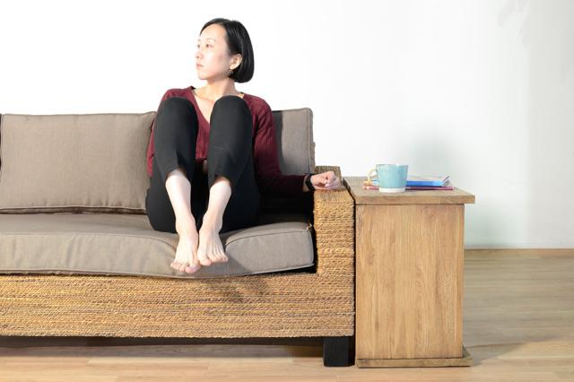 アジアン家具KAJA「FARGO/ブックシェルフテーブル」