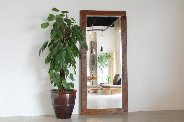 アジアン家具KAJA古材のミラー