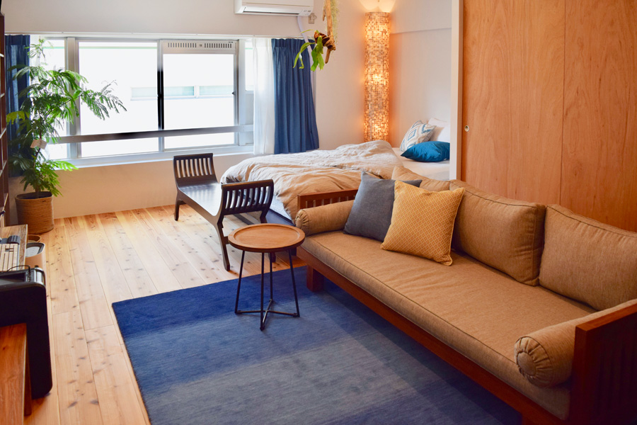 ライフスタイルに合わせたナチュラルリゾートなお部屋