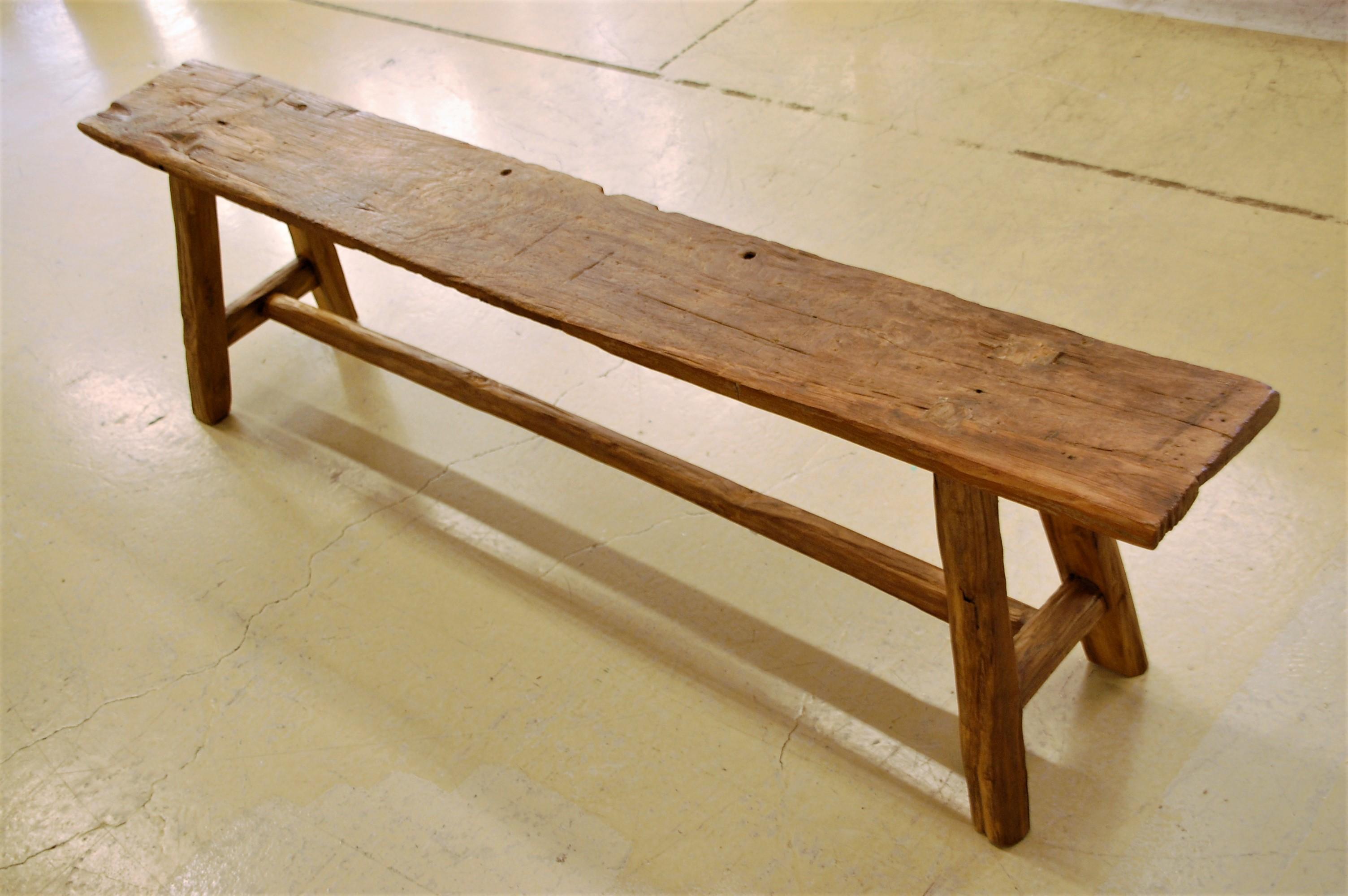 KAJAチーク古材のベンチ