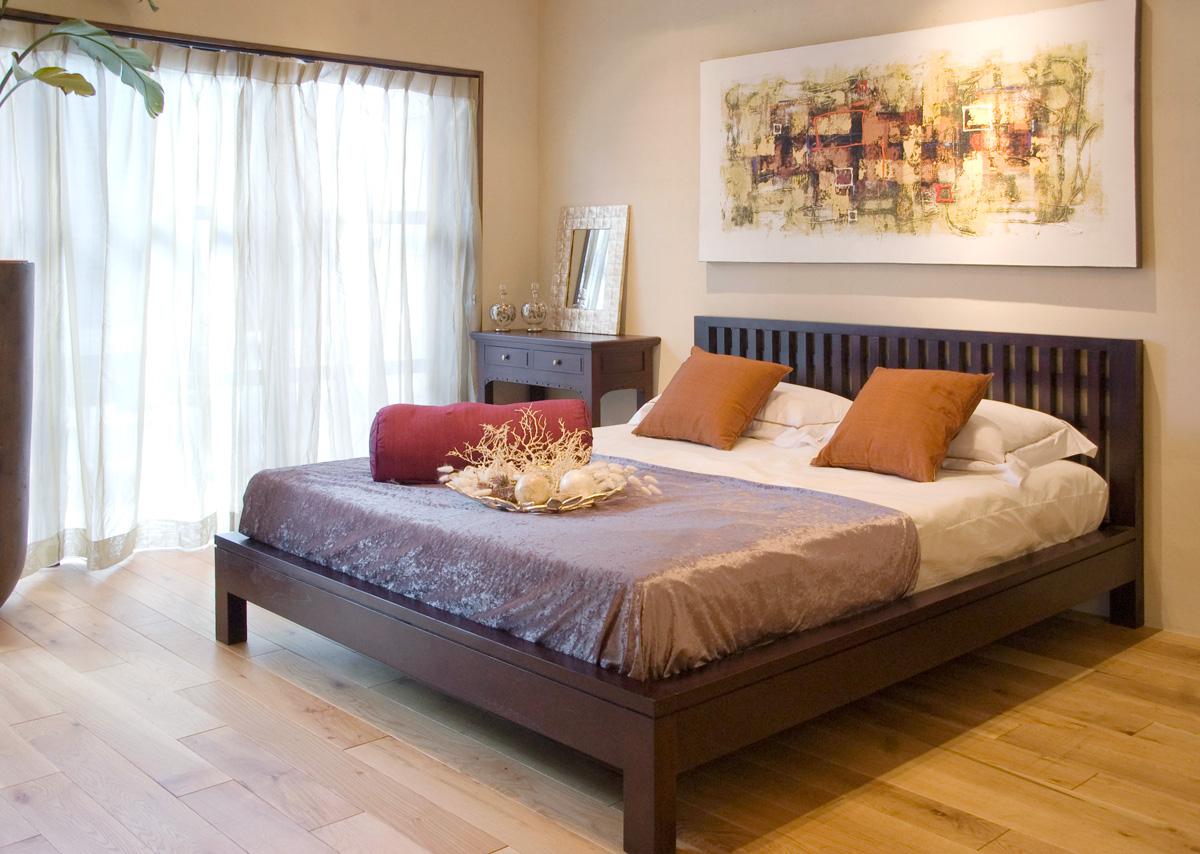 アジアン家具KAJAリゾートスタイルのベッドルーム