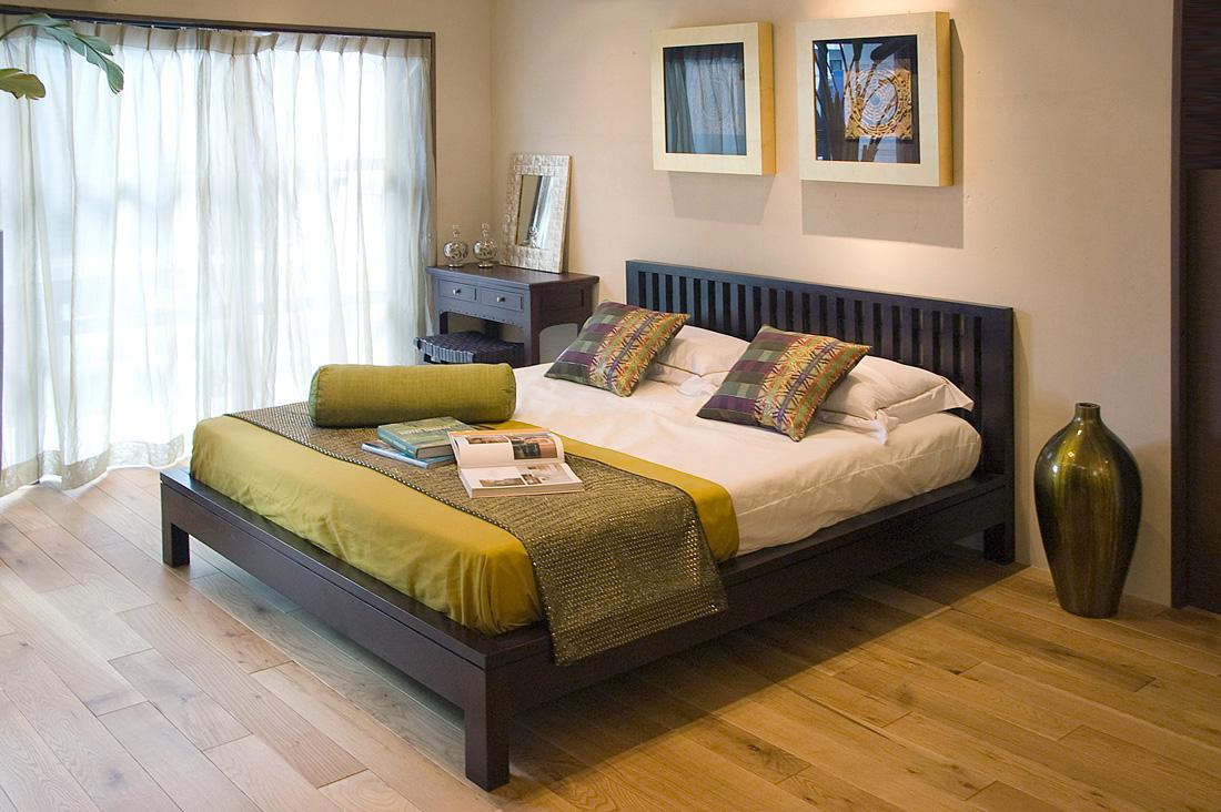 アジアン家具KAJAリゾート風のベッドルーム