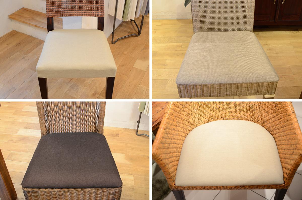 アジアン家具KAJAチェアの座面