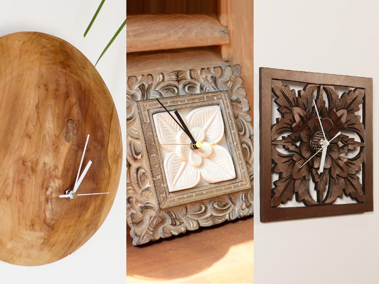 アジアン家具KAJAハンドメイドの時計