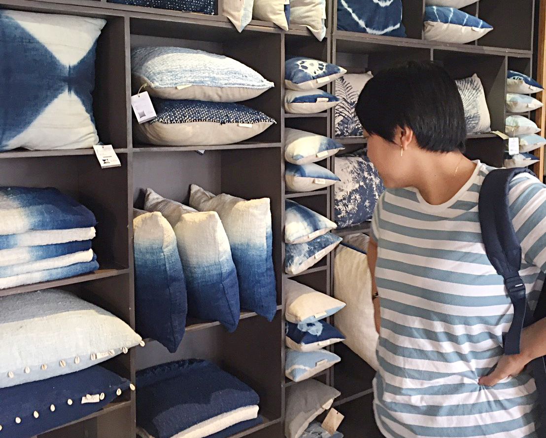 アジアン家具KAJA買い付け風景クッション