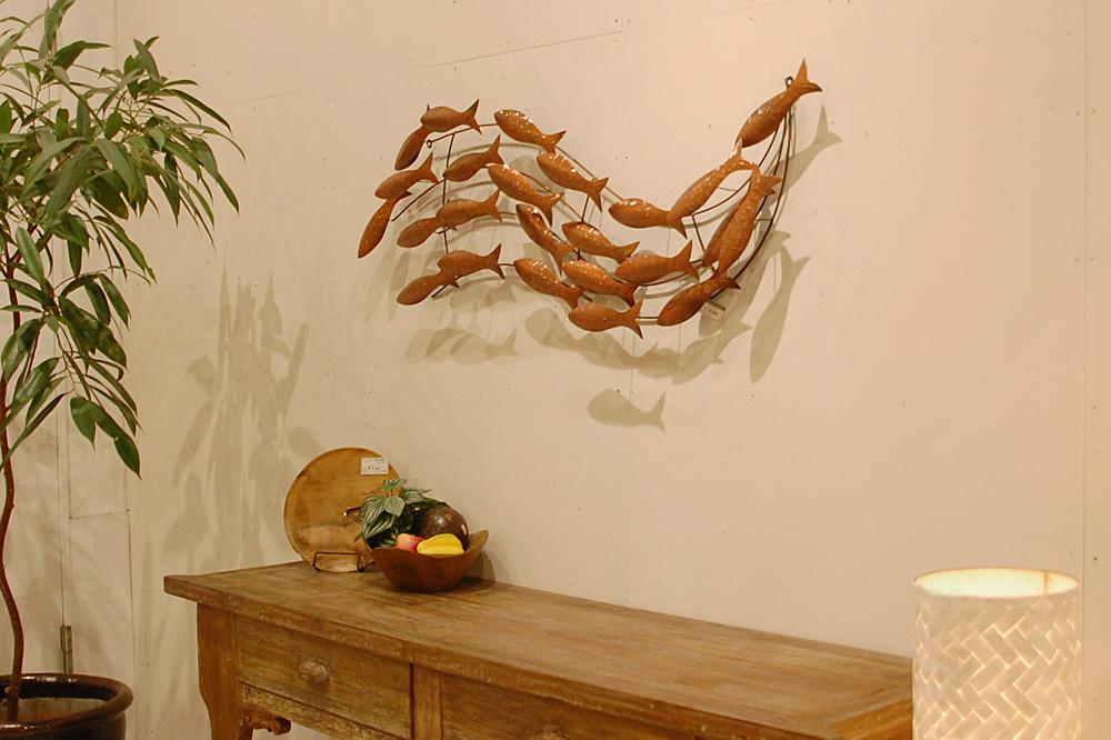 アジアン家具KAJA魚のウォールアート