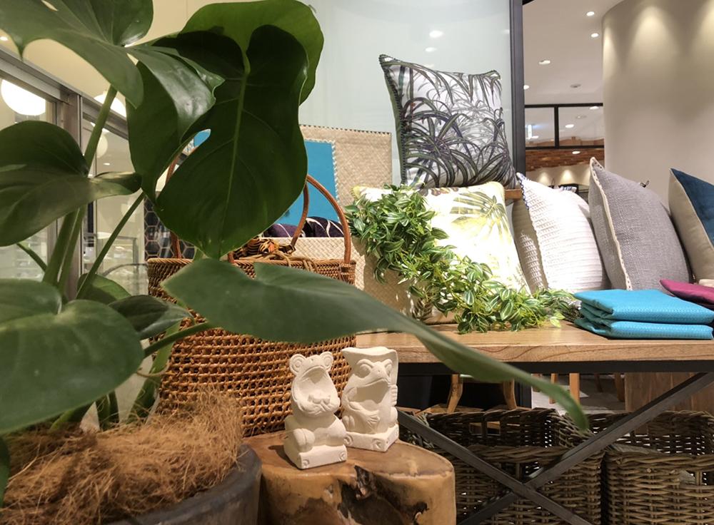 アジアン家具KAJA銀座ポップアップストアの店内