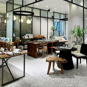 アジアン家具KAJA銀座ポップアップストアの店内写真