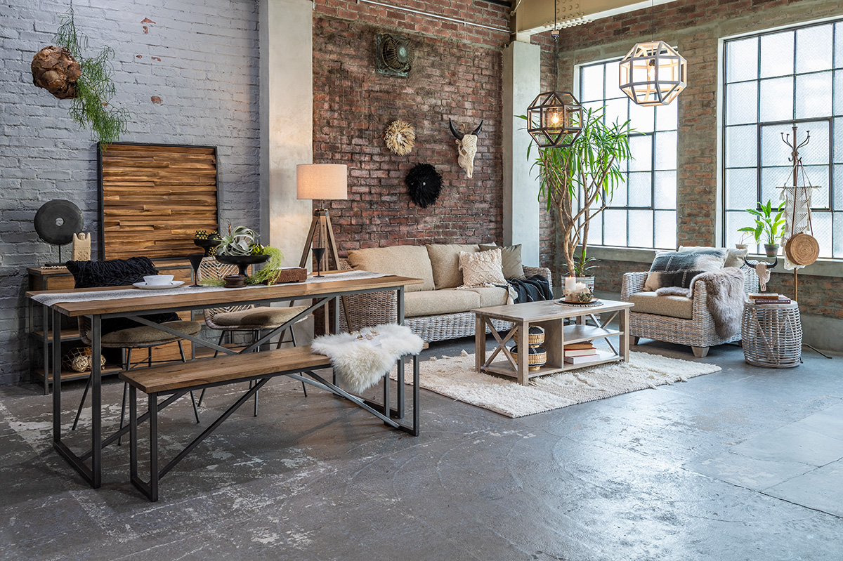 アジアン家具新商品のコーディネート