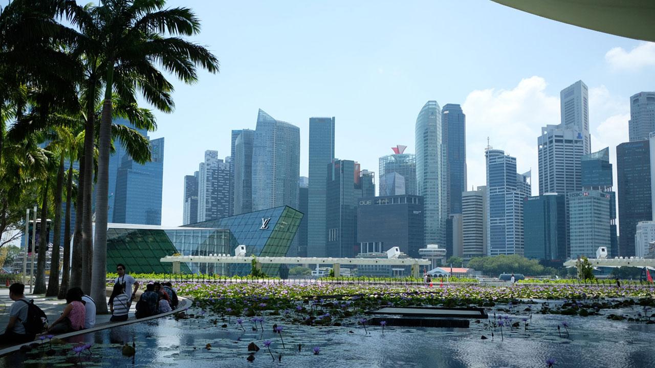 アジアン家具KAJAシンガポールの風景
