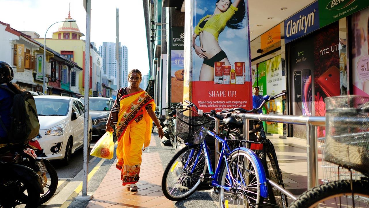 アジアン家具KAJAシンガポールの街中