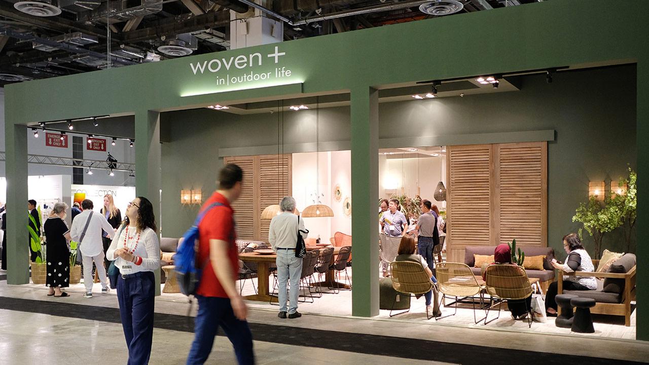 ジャカルタの家具の展示会の様子