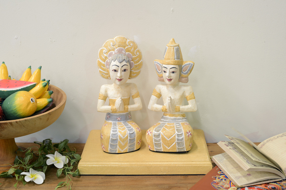 アジアン家具KAJAワヤンペアオブジェ