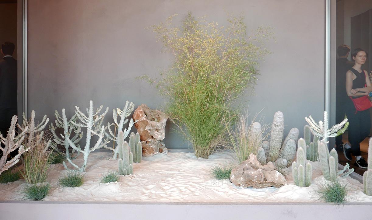 ミラノサローネの植物ディスプレイ