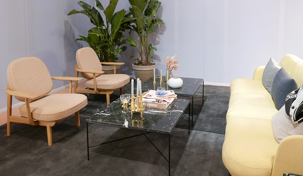 アジアン家具KAJAミラノ大理石のテーブル