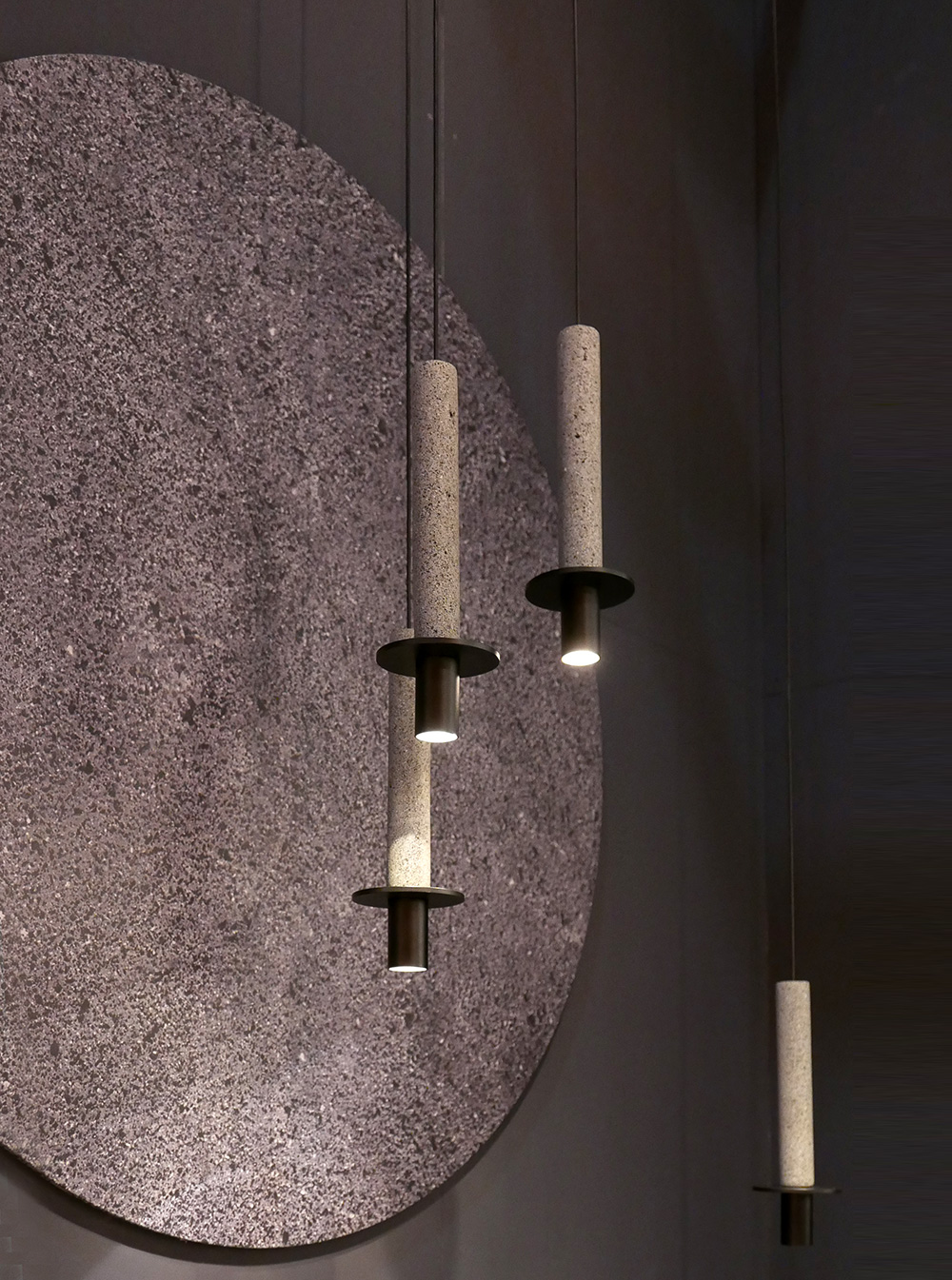 アジアン家具KAJAミラノ石を使った照明