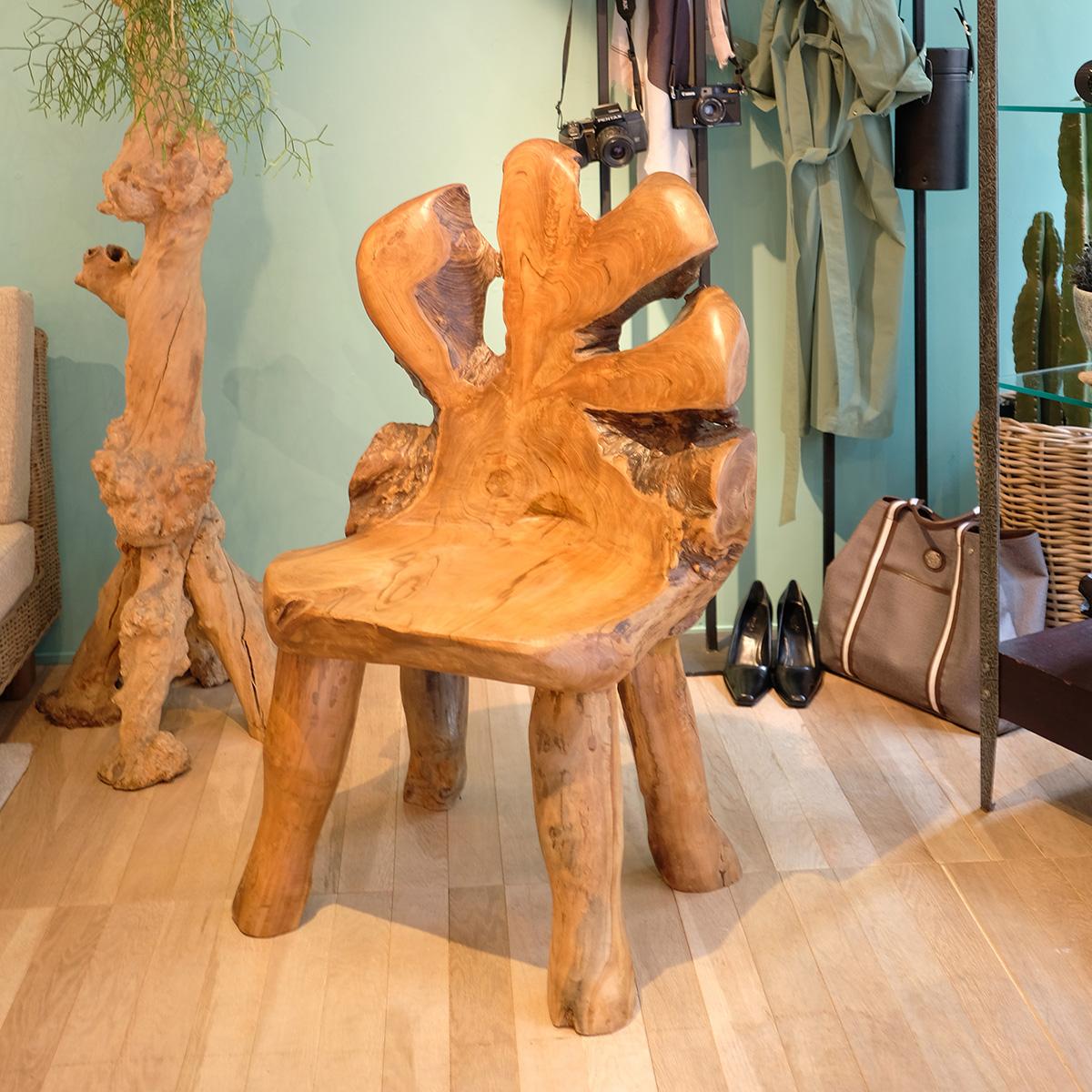 アジアン家具KAJA古木を使ったウッドチェア