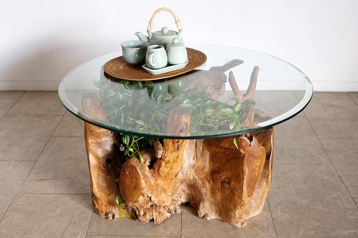 アジアン家具KAJA人気の古木ルーツテーブル