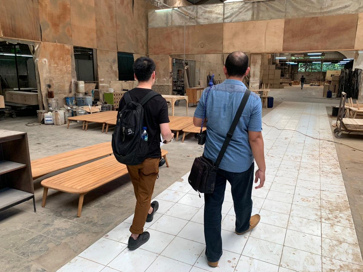 アジアン家具KAJAバイヤー家具工場を歩く