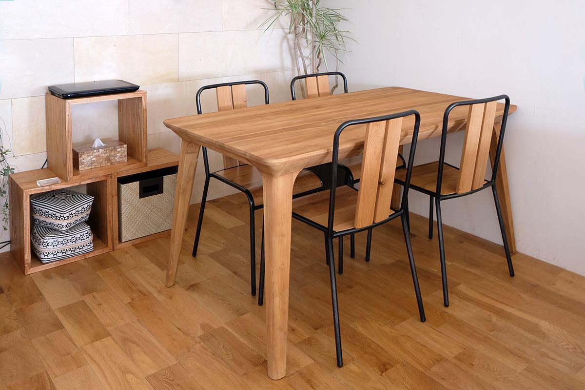 アジアン家具KAJAチーク材のダイニングテーブル例