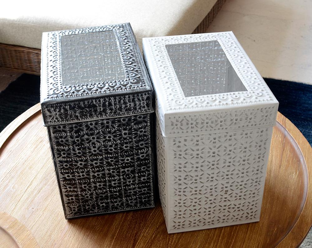 アジアン家具KAJAアルミのダストボックス