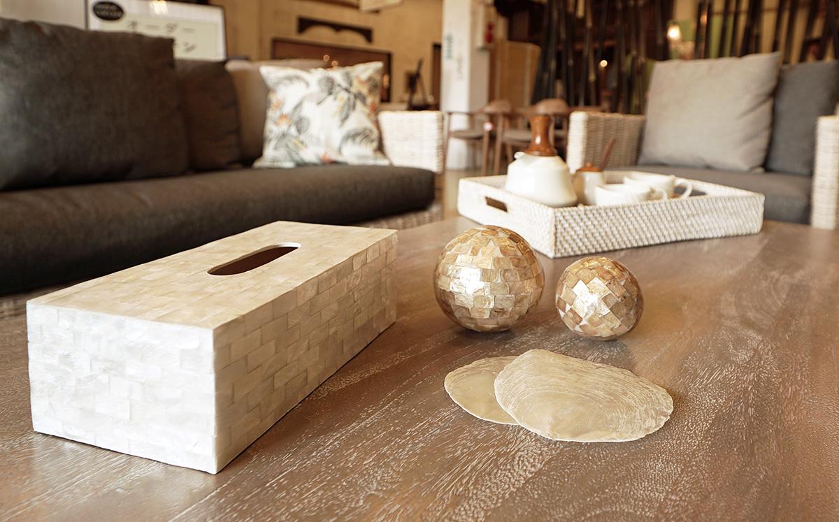 アジアン家具KAJAシェルを使った製品