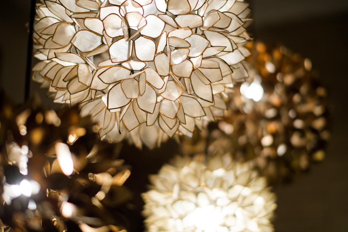 シェルランプのホワイトとゴールド