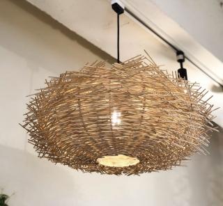 アジアン家具KAJAラタン鳥の巣ペンダント照明