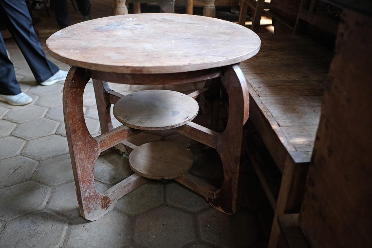 アジアン家具KAJAアンティーク丸テーブル