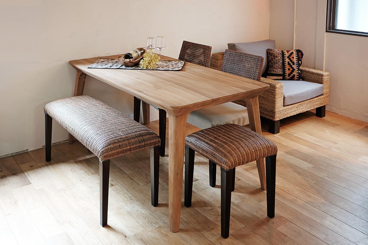 アジアン家具KAJAコーラルダイニングテーブル